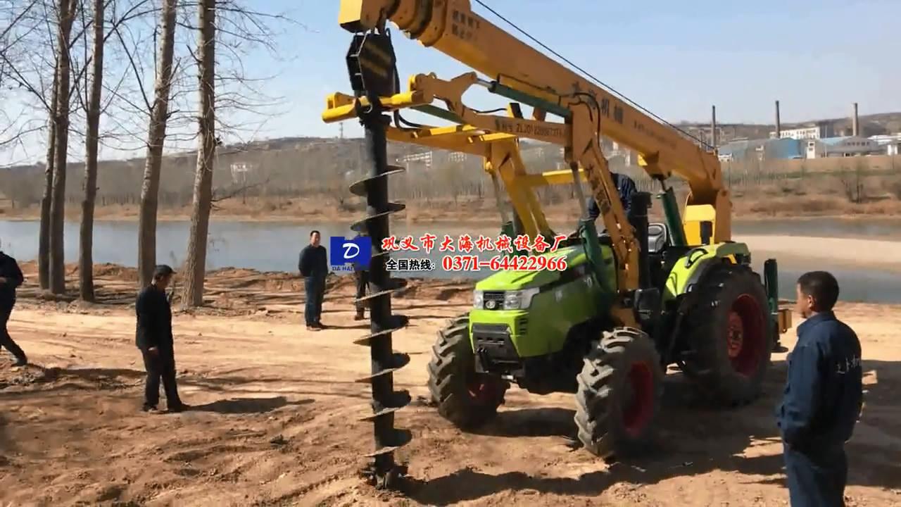 南非客户1004挖坑机试机操作现场