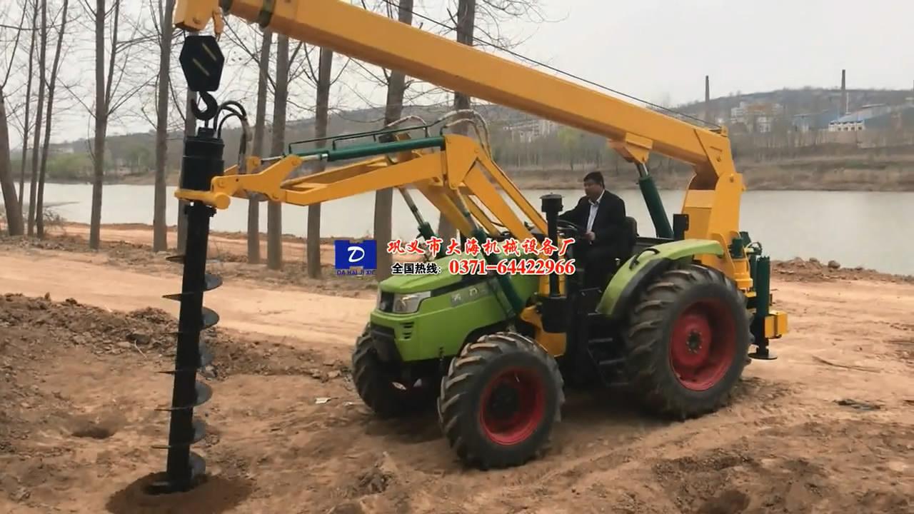 迪飞外贸加工定制挖坑机专拍视频